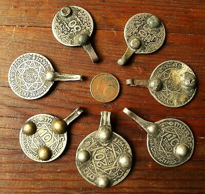 45mm Pendant Coin Metal Antique Berber Morocco Antique Moroccan Coin Pendant 5