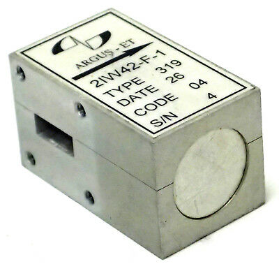 Argus-et 2iw42-f-1 Broadband Waveguide T-junction Isolator Wr-42 18-26.5 Ghz