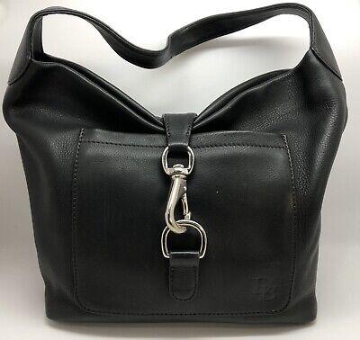 Dooney & Bourke Black Leather Annalisa Lock Sac Hobo Purse (RF1055)