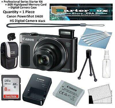 Sale Sx620 Canon Powershot Sx 620 Hs Digital Camera Retail Box + Memory + Pro Ki ()