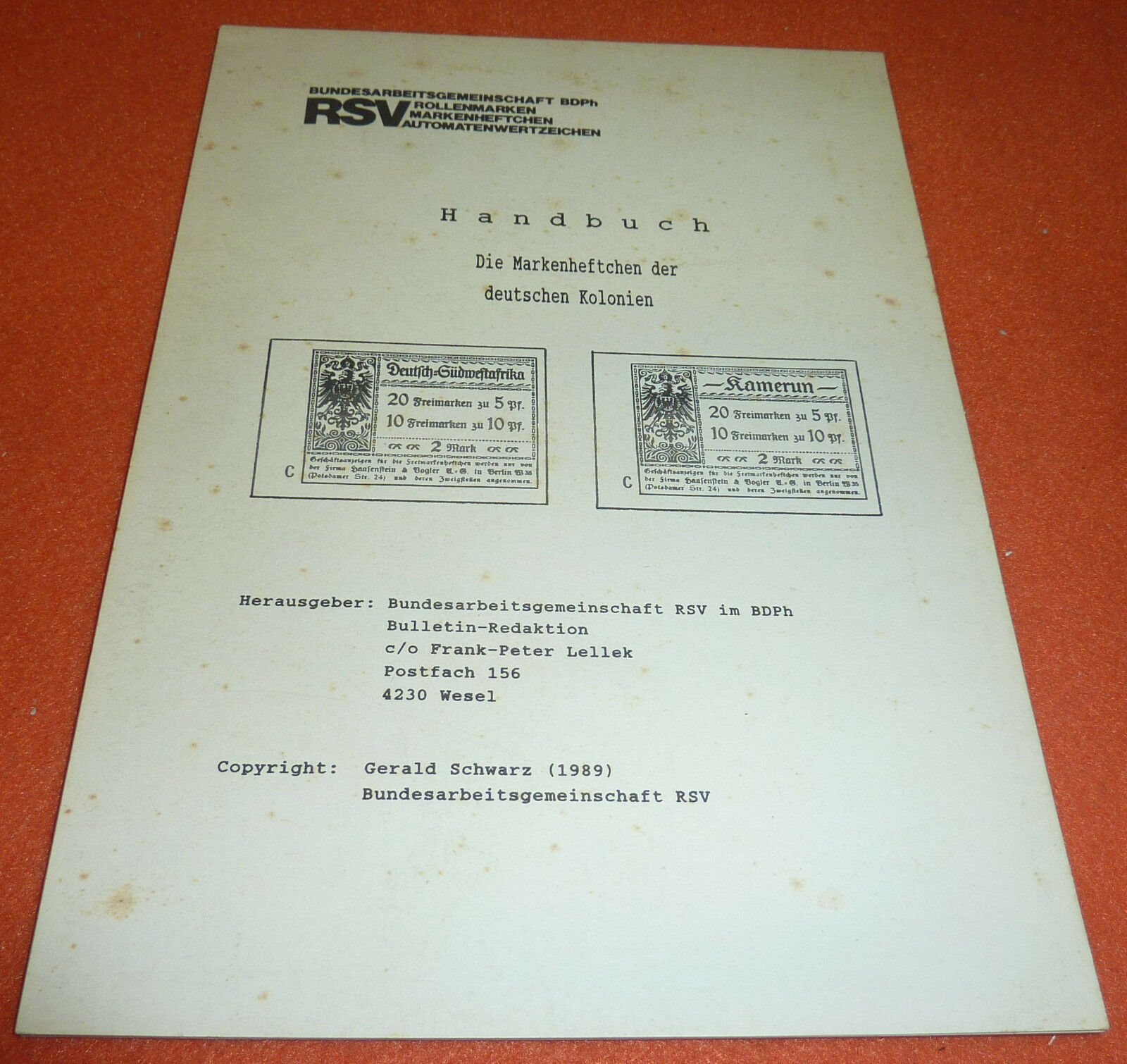 Markenheftchen Deutsche Kolonien Spezial Katalog & Handbuch DOA DSWA Kamerun etc