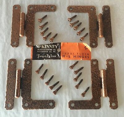 McKinney Olde Copper finish H L Hinge Set Of 4 Hinges Flush Mount
