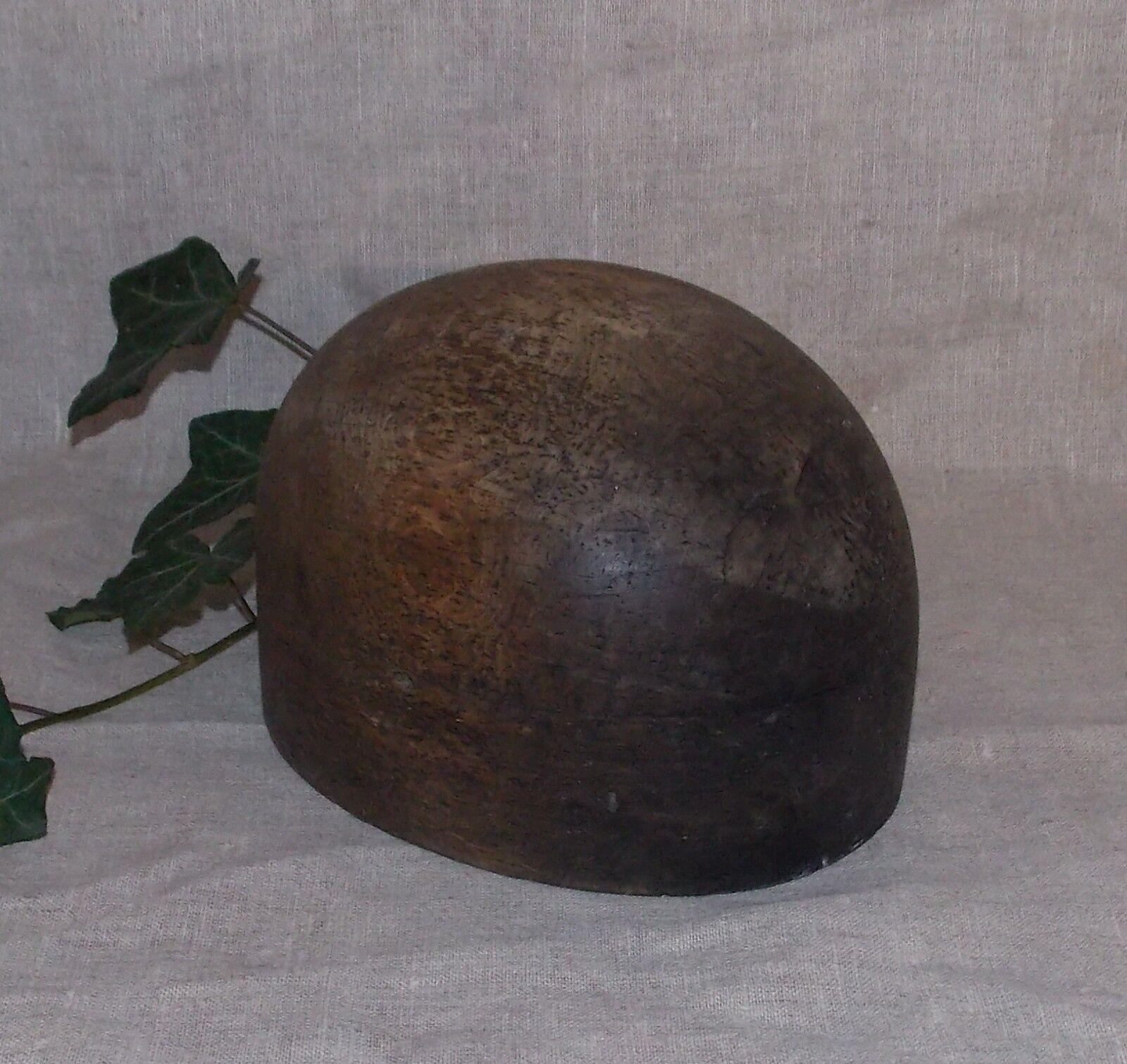 Ancien porte chapeau boule en bois marotte forme a chapeau