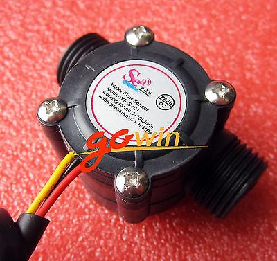 2PCS Water flow sensor flowmeter Hall sensor Module Water control 1-30L/min new