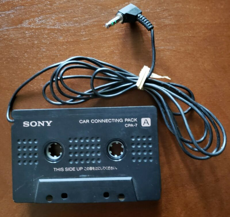 Genuine SONY CPA-7 Car Connecting Cassette Tape Adapter Audio Headphone (3.5mm)