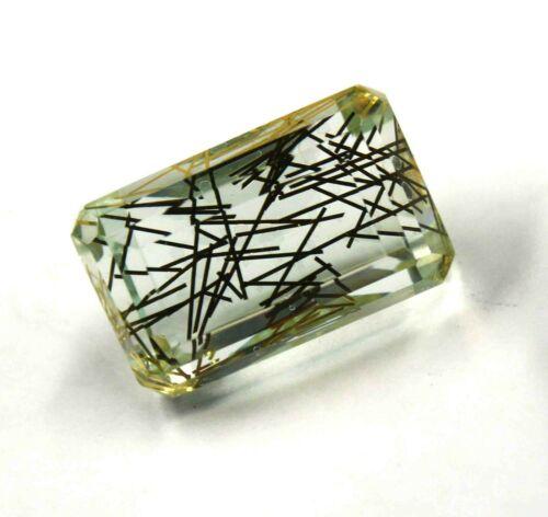 EGL Certified 97.00 Ct Transparent Yellow Rutilated Quartz Gemstone NN1396