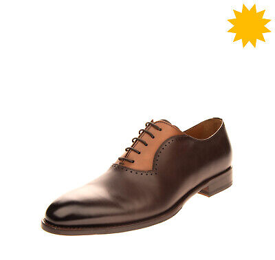 RRP €360 DOUCAL'S Leather Oxford Shoes Size 41 UK 7 US 8 HANDMADE in Italy