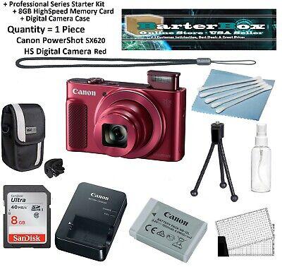 Sale Sx620 Canon Powershot Sx 620 Hs Digital Camera Red +Memory +Case +Pro Kit ()