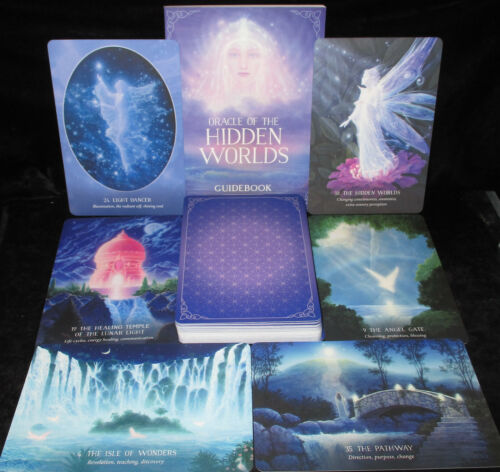 NEW SEALED ~ HIDDEN WORLDS CARDS & BOOK ORACLE WONDROUS MAGICAL PLACES OF ENERGY