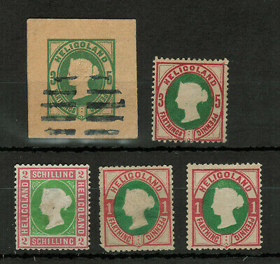 Heligoland Selection of 5 Stamps #4979