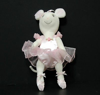 "Angelina Ballerina Mouse Doll American Girl 10"" Posable Plush Pink Tutu"