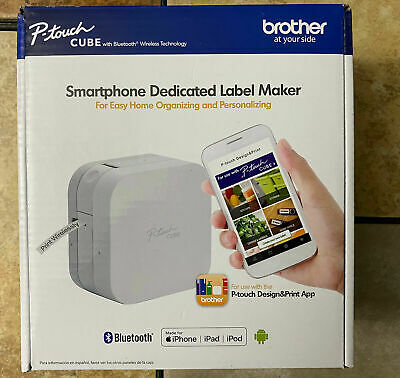 Brother P-touch Cube Smartphone Label Maker Bluetooth Wireless Pt-p300bt New
