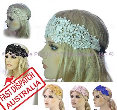 20s Great Gatsby Party Dance Costume Head Piece Hair Band Flapper Lace - 20s Hair