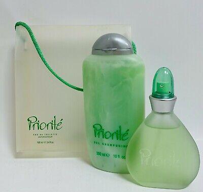 PRIORITE Eau de Toilette 100 ml Spray Mujer y Gel Champu 300...