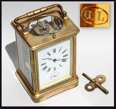 Carriage clock Reiseuhr E.G. Lamaille um 1910 Paris London Alarm clock