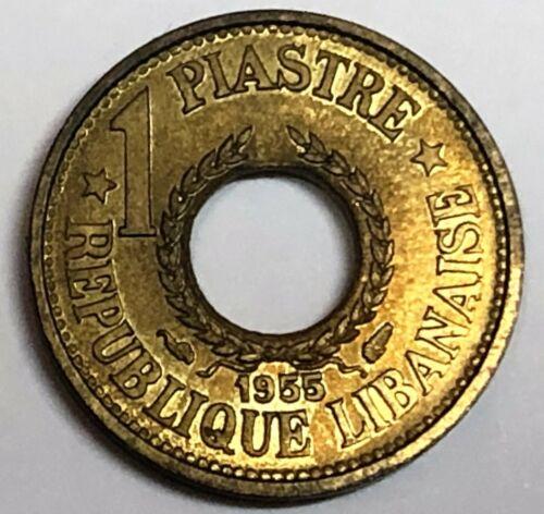 # C9755   LEBANON   COIN,    1 PIASTRE    1955