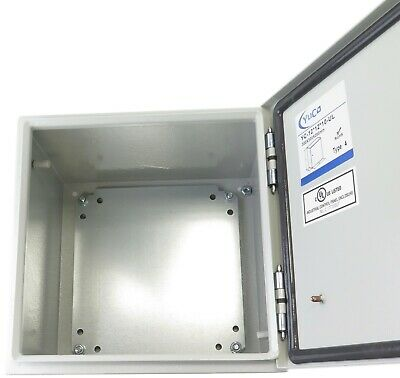 Yuco 12x12x10 Electrical Box Ip66 Rated Nema Type 4 Enclosure Glandscrewplate