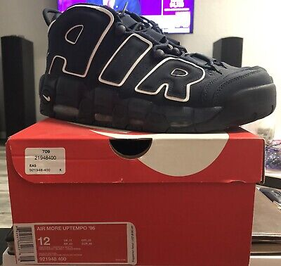 Nike Air More Uptempo 96 'Obsidian' Men's Shoes Size 12 W/box