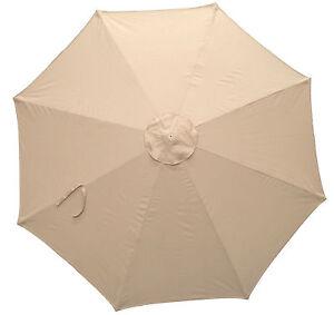 Recambio toldo para 2 7 m parasol sombrilla 8 varillas for Recambios para toldos