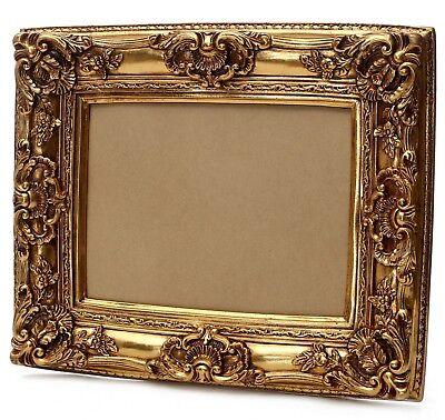Rokoko Bilderrahmen 40 x 50 cm / 60x70 cm Gold Vintage Barockrahmen Jugendstil