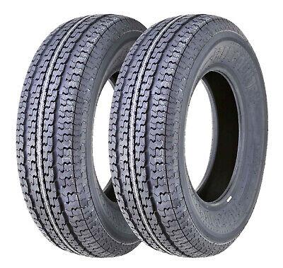 Set 2 FREE COUNTRY Heavy Duty Radial Trailer Tires ST205/75R15 10PR Load Range E
