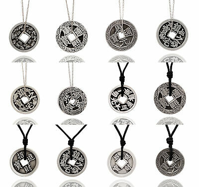 New Chinese Zodiac I Ching Silver Pewter Charm Necklace Pendant Jewelry