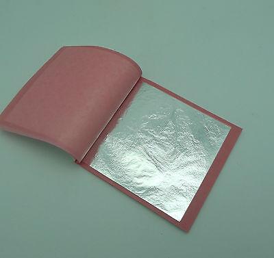 Pure Fine Silver Foil Leaf Glass Kiln Lampworking Fusing 24 Pieces 3 3/8