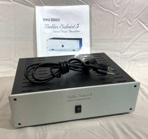 Belles Soloist 5 Power Amplifier - 65 Watts Per Amp With Owners Manual