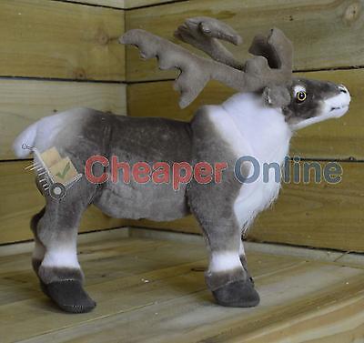 40cm High Standing Fabric Plush Reindeer Christmas Decoration / Ornament