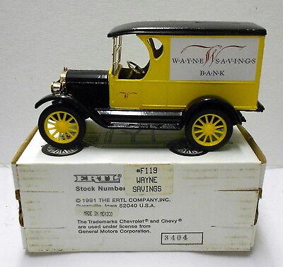 Wayne Savings Bank 1923 Chev Panel Truck 1994 Diecast Ertl Bank  F119