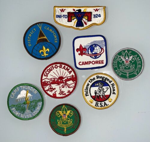 Lot of 8 boy scout patches