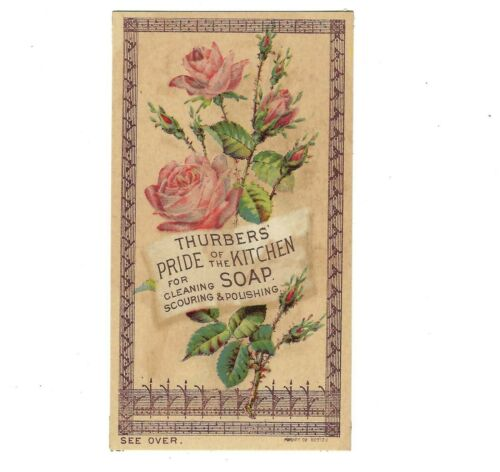 Thurbers Pride of the Kitchen Soap Victorian Trade Card