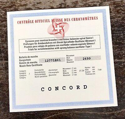 C.O.S.C CONCORD Chronometer Certificate C1 Gravity Tourbillon Sport Chrono for sale  Shipping to United States