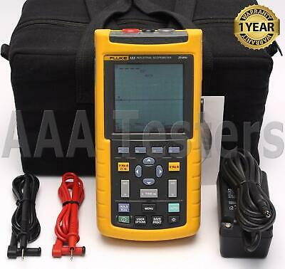Fluke 123 Industrial Scopemeter 20mhz Handheld Oscilloscope Scope Meter 123003