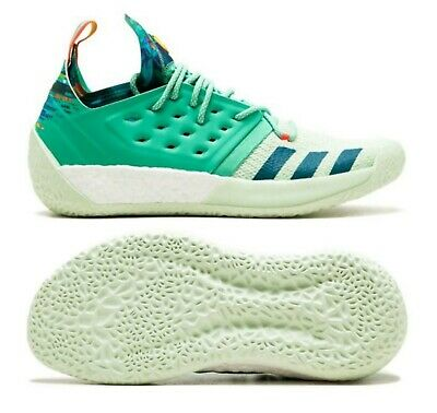 Adidas Harden Vol. 2 All Star Vision Men Shoes, Green/Multicolor, B28106, Sz 6.5