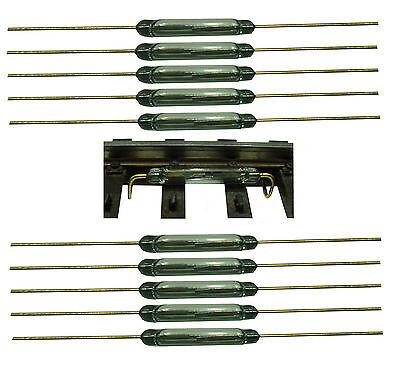 20 Stück Reedkontakt 13 mm x 2 mm Miniatur Reedschalter