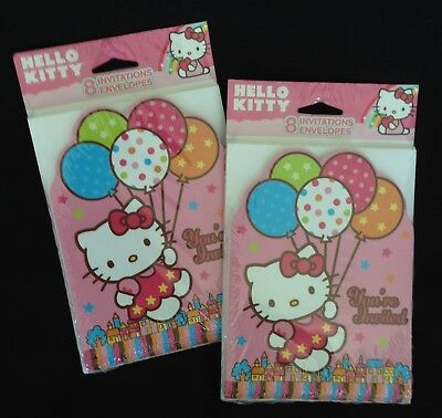Hello Kitty Birthday Party Invitations - Hello Kitty Birthday Party - 16 Invitations & Envelopes - Made in USA