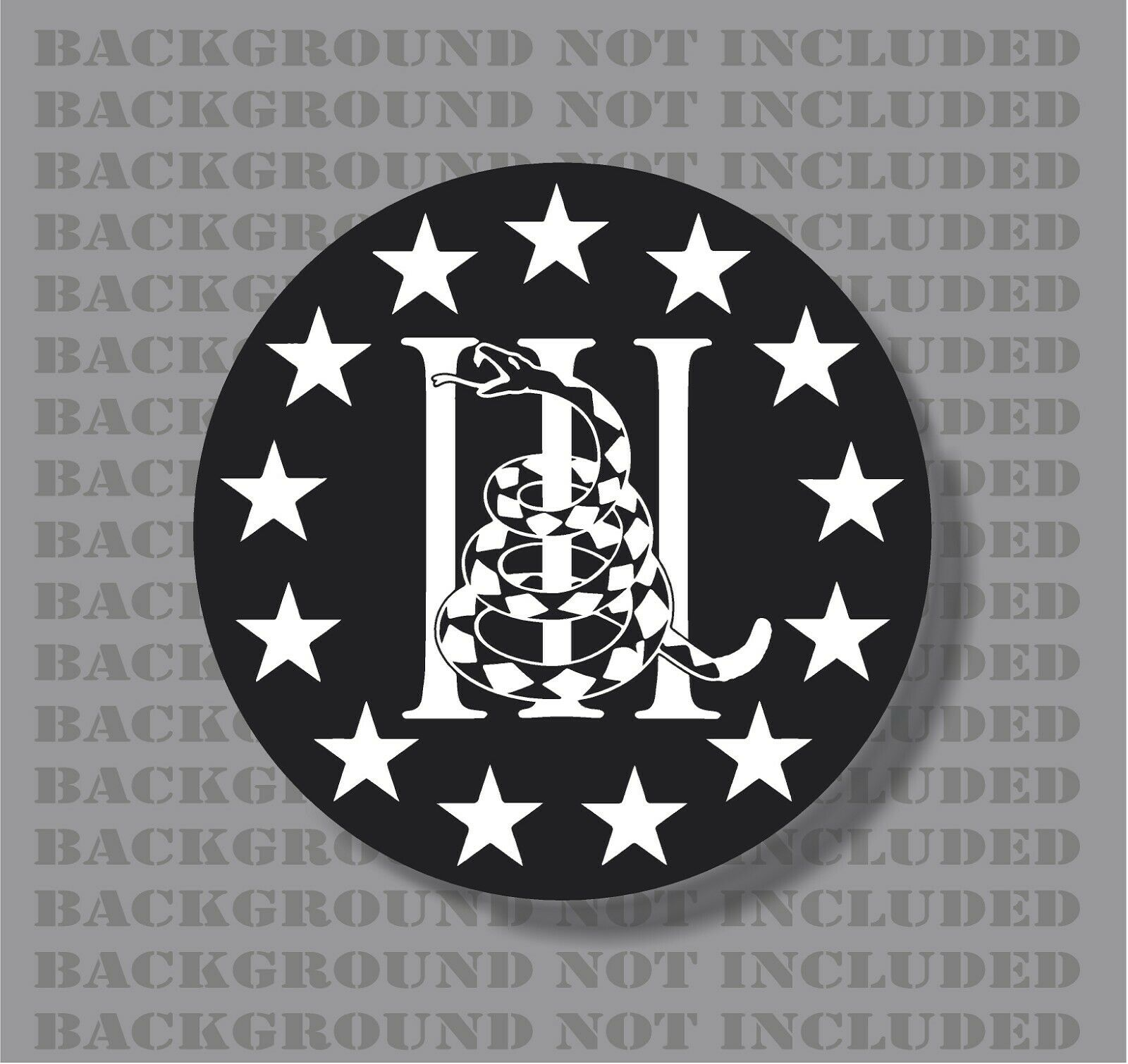 Navy DON/'T TREAD ON ME sticker