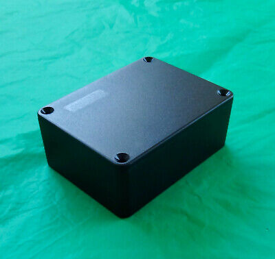 Project Box Electronic Enclosure L4 W3 H1-58. Black Plastic