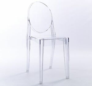 Delightful Clear Ghost Dining Chair Transparent Designer Modern Stylish Victoria Starck