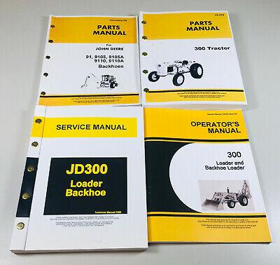 Service Parts Operators Manual Set For John Deere Jd 300 Tractor Loader Backhoe