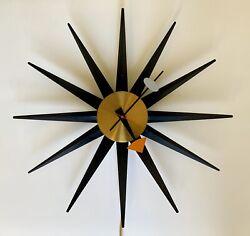 1952 George Nelson & Associates Spike Wall Clock Model 2202E Howard Miller