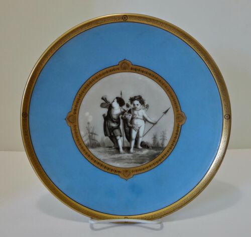 Victorian Glass Charger, Cherubs Lithograph
