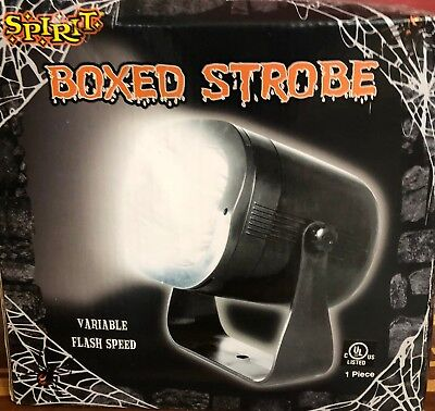 HALLOWEEN SPIRIT BOXED STROBE LIGHT BRAND NEW 120V 16W  VARIABLE FLASH SPEED
