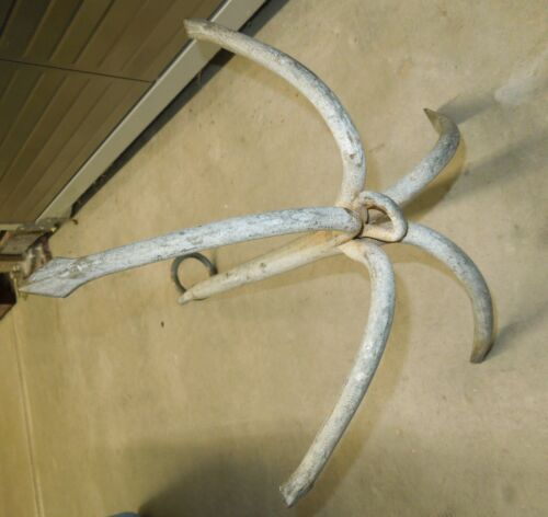Vintage Antique 5 Claw Grapple Anchor Steel Hand Forged Hook
