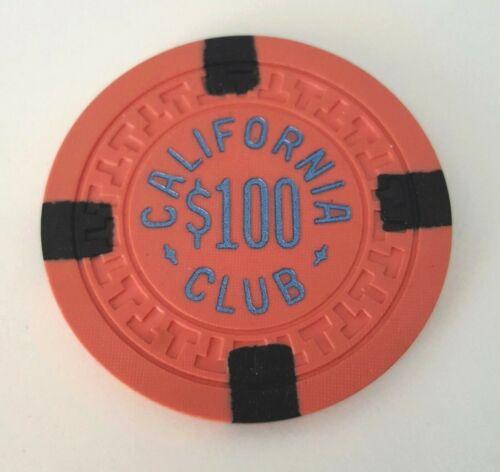 $100 Las Vegas California Club Chip - Near Mint