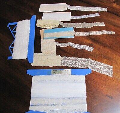 Antique Lace Trim Lot, Please see pics, 9 different, Vintage lace