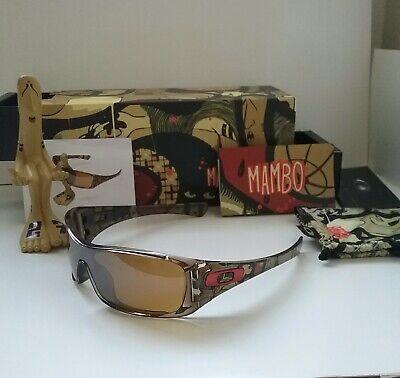 New OAKLEY MAMBO ANTIX Brown Smoke Tungsten ARTIST RARE Sunglasses david (Antix Oakley Sunglasses)