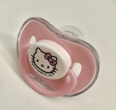 Sanrio Hello Kitty Baby Pacifier Soother Pink Orthodontic Silicone Nipple 3+ mo