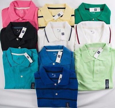 Nwt Mens Pique Polo Shirt Gap Choose Size And Color 100  Cotton Xs S M L Xl Xxl